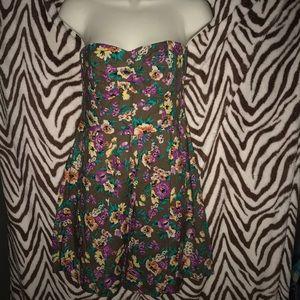 Heritage 1981 medium brown 🌸 strapless dress